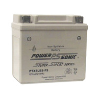Power Sonic PTX5LBS-FS 12v 60ccA 4ahr Activated AGM Motorbike Battery