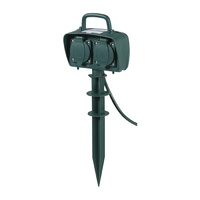 Garden Spike Style 2 Outlet Power Socket