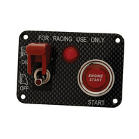 Racing Ignition Switch Panel with Missile Style Flip Cover