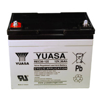 Yuasa 12v 36ahr AGM Deep Cycle Battery