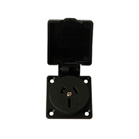 Mains Panel Socket 15a with Spring Cover