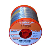 Stannol 63/37 HS10 0.5mm Solid Solderwire (500gm)
