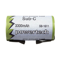 Powertech 1.2v 3300mah NiMH High Discharge Sub C (With Tabs)