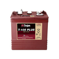 Trojan 6v 225ahr Flooded Deep Cycle Lead Acid Battery (T-105 Plus)
