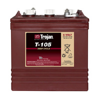Trojan 6v 225ahr Flooded Deep Cycle Lead Acid Battery (T-105)