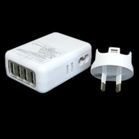 USB 4 Port Charger for Mobile Devices