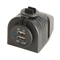 Surface Mount two Port 12-24v USB Charger with 3.1a Output