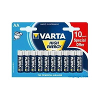 Varta High Energy Alkaline AA 10 Pack