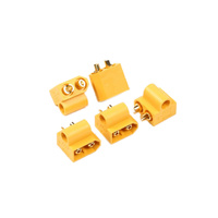 XT60 Male Connector with 5mm Mounting Whole (5 Pieces)