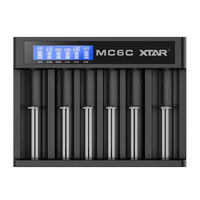 Xtar MC6 USB Powered Six Slot Li-Ion Battery Charger