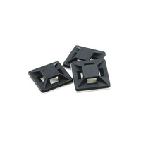Cable Tie Mounts 19mm Black UV Weather Resistant (5 pk)