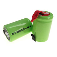 No Name 1600mah NiMH 4/5 Sub C Batteries with Tabs (Pair)