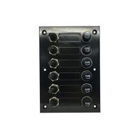 6 Way SPST Rubber Boot Switch and Fuse Panel