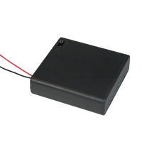 AA x 4 Enclosed Battery Holder with Switch