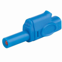 Insulated Piggyback Banana Plug 4mm (Blue)