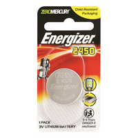 Energizer CR2450 3v Lithium Button Cell Battery (Single)