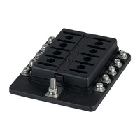 10 Way Blade Fuse Block with Screw Terminal Connection
