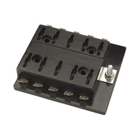 10 Way Standard ATS Blade Fuse Block with Single Power In Terminal