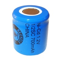 Industrial Standard Cylindrical Cell NiCD 1/2C 1.2v 700mah