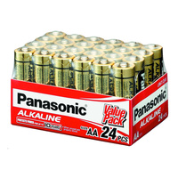 Panasonic AA Alkaline Battery (24 Pack)