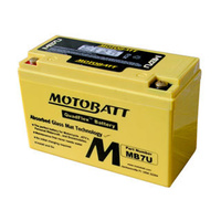 MotoBatt MB7U 12v 100ccA Maintenance Free Battery