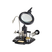 PCB Holder, Magnifying Lamp and Third Hand