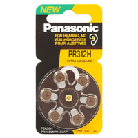 Panasonic PR41 Zinc Air Hearing Aid Battery (6 Pack) - Carton Lots
