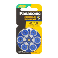 Panasonic PR44 Zinc Air Hearing Aid Battery (6 Pack) - Carton Lots