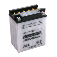 Power Sonic CB14L-B2 12v 190ccA 14ahr Conventional Motorbike Battery (YB14L-B2)