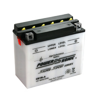 Power Sonic CB18L-A 12v 235ccA 18ahr Conventional Motorbike Battery (YB18L-A)