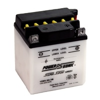Power Sonic 12N5.5A-3B 12v 44ccA 5.5ahr Conventional Motorbike Battery