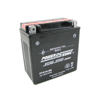 Power Sonic PTX16-BS 12v 220ccA 14ahr Sealed AGM Motorbike Battery (YTX16-BS)