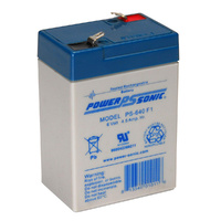 Power Sonic 6v 4.4ahr Sealed AGM Battery