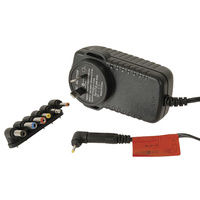 Switchmode 9v 3a Plug Back Style Power Supply With 7 Plugs
