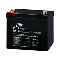 Ritar 12v 55ahr AGM Deep Cycle Lead Acid Battery