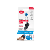 Amazing Sugru Mouldable Glue Black White and Blue 3 x 5g