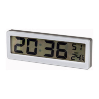 Slimline LCD Clock and Thermometer