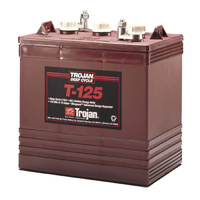 Trojan 6v 240ahr Flooded Deep Cycle Lead Acid Battery (T-125)