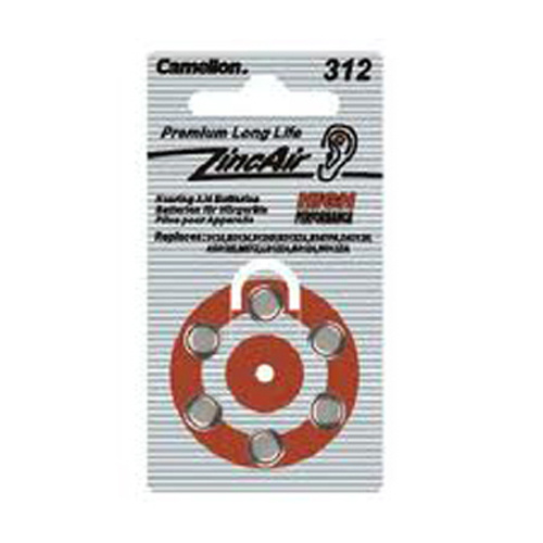 Camelion A312 Zinc Air Hearing Aid Battery