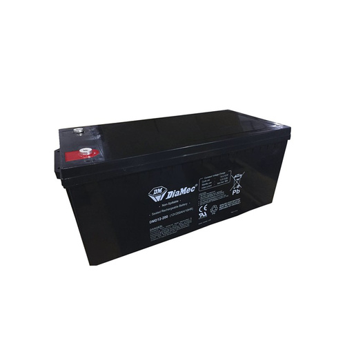 DiaMec 12v 200ahr AGM Deep Cycle Lead Acid Battery
