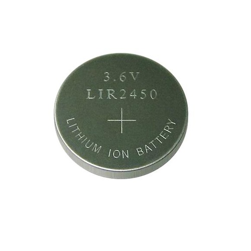 LIR2450 3.6v 120mah Rechargeable Li-Ion Button Cell
