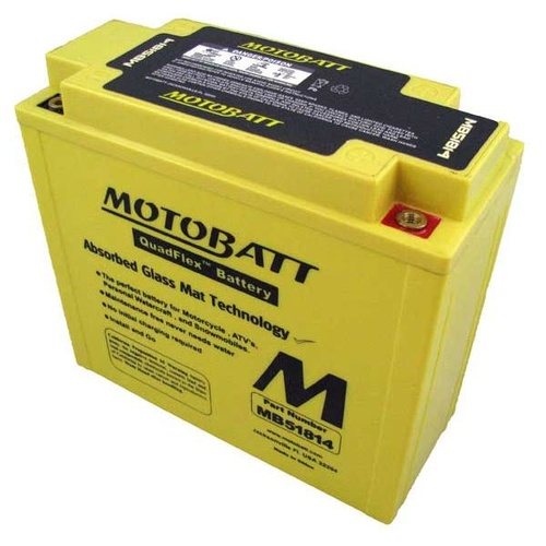 MotoBatt MB51814 12v 220ccA Maintenance Free Battery