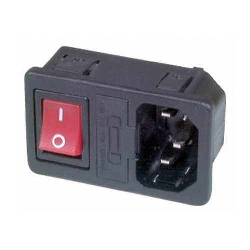 IEC320 Male Panel Mount Switched Socket