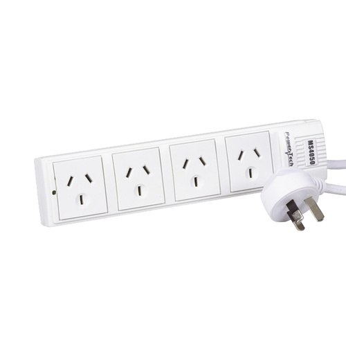 4 Way Power Board With Surge And Overload Protection